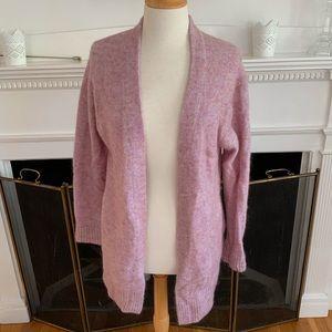 ACNE Raya short dusty pink mohair cardigan